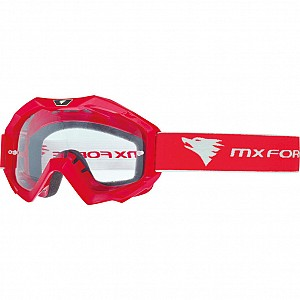 MX Force Magen Solid Motocross 14336-0200 RED Goggles