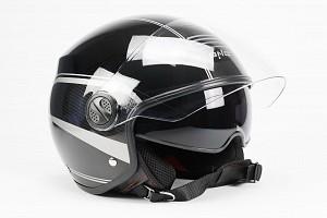 BNO JET 6 GLOSS BLACK SUNVISOR JET MOTORCYCLE JET HELMET