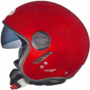 RF-693 BURGUNDY RED SOLVISIR JET MC HELMET