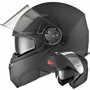 AGRIUS FURY FLIP FRONT MATT BLACK MOTORCYCLE 1003