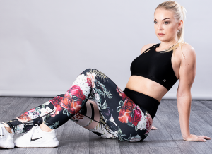 SHAPELAB ROSES SCRUNCH LEGGINGS