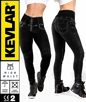 LADY KEVLAR DENIM LEGGINGS DARKSHADE WATERPROOF MC BYXA WP96