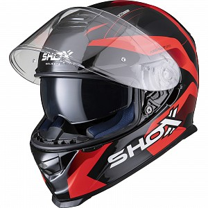SHOX ASSAULT EVO SECTOR RED 0203 MOTORCYCLE HELMET
