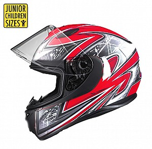 SA03 Junior Red shiny mc helmet