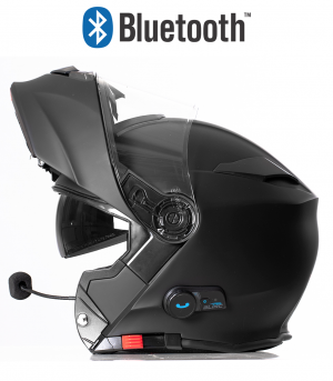 BLINC BLUETOOTH MATT BLACK RS983 STEREO MC HELMET