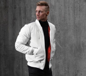 WRKLS BOMBER JACKET LEATHER WHITE SKINN JACKET