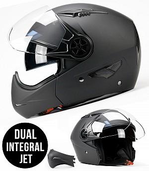 BNO F555 DUAL JET INTEGRAL mc helmet