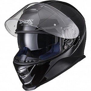 SHOX ASSAULT EVO BLACK BLANK GLOSS SUNVISOR 16321 MOTORCYCLE HELMET