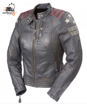 ATA LADY LIONESS CUSTOM RUBBOF MOTORCYCLE LEATHER JACKET