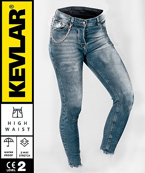 LADY KEVLAR V2 CRUISER WP RETRO BLUE BOBBER MC JEANS